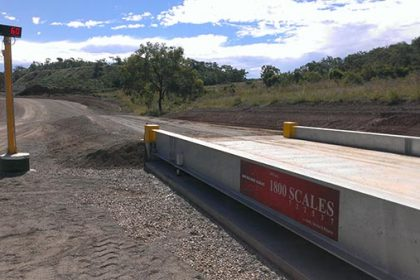 Caves Quarry weighbridge construction - SWIA Weighing