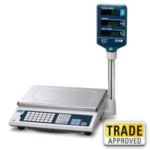 CAS AP-1 Price Computing Scale White, Silver and Dark Blue - SWIA