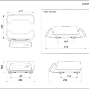 CAS FW500-C Waterproof Scale Sketch - SWIA